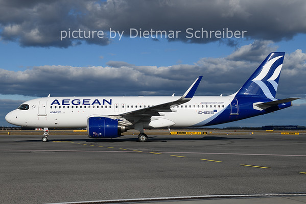 2021-02-04 SX-NED AIrbus A320neo Aegean Airlines