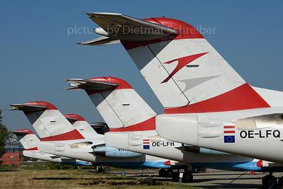 2017-08-15 OE-LFQ Fokker 70 Alliance Air Slovakia / ex Austrian Airlines