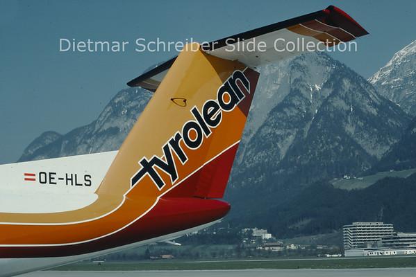 1980-04 OE-HLS DHC Dash 7-100 (c/n 022) Tyrolean Airways