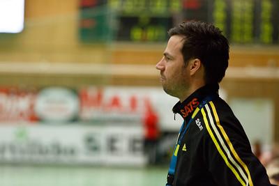 Partille 2015-01-25 Handboll Sävehof - Skånela :   Sävehof tränare Henrik Signell  ( Foto: Martin Wallén / Pic-Agency )   Nyckelord Keywords: Handboll, ELITSERIEN, IK Sävehof, Skånela IF