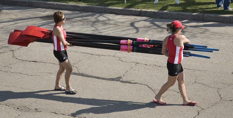 Carrying oars