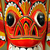 A red wooden mask from Sri Lanka