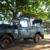 Land Rover cars of the Yala national park in  Sri Lanka