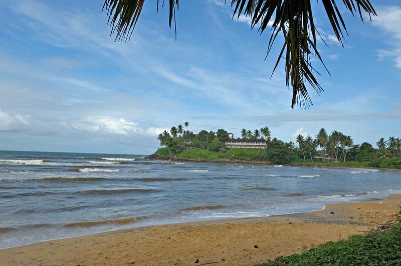 Building in a beach in south western Sri Lanka