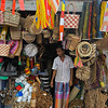 Shopkeeper in a street market in Kandy, Sri Lanka.