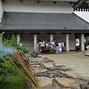 Incense sticks burning in the  Sri Dalada Maligawa or temple of the tooth relic in Kandy, Sri Lanka