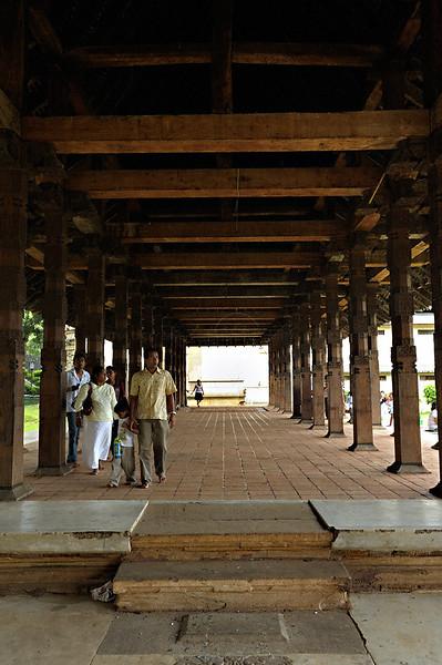 Buildings of the  Sri Dalada Maligawa or temple of the tooth relic in Kandy, Sri Lanka