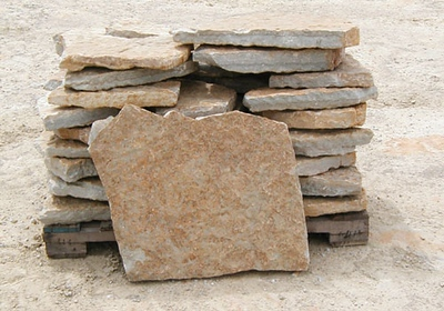 Ohio SC large rustic buff flagstone  *Special order.  This stone must be ordered by the truckload and may be combined with any OH/ SC stone.