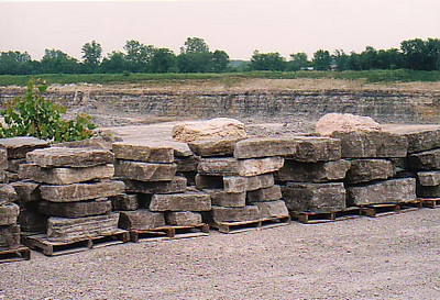 Ohio SC Gray gorge outcropping stone  *Special order.  This stone must be ordered by the truckload and may be combined with any OH/ SC stone.