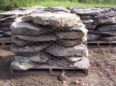 Pennsylvania SS small fieldstone steps  *Easily accessible.  Not typically carried in stock but can be added to a truck or picked up by TDH.