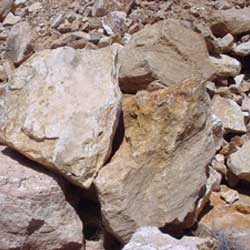 New Mexico travertine sunset canyon light boulders  *Special order.  This stone must be ordered by the truckload and may be combined with any NM Trav SM stone.
