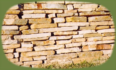 Arkansas/ Oklahoma gold wall stone