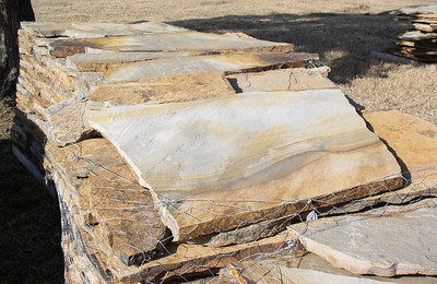 Arkansas/ Oklahoma seminole wind smooth flagstone  *Special Order.  This stone must be ordered by the truckload.  Can be combined with any stone from AR/OK stone