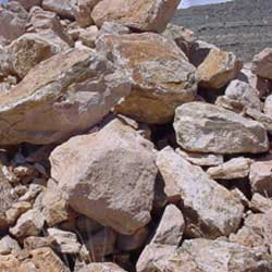 New Mexico Travertine rocky mountain gold boulders  *Special order.  This stone must be ordered by the truckload and may be combined with any NM Trav SM stone.
