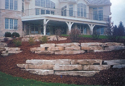 Wisconsin Hal Fond Du Lac outcropping stone  *Special Order.  This stone must be ordered by the truckload.  Can combine with any other WI/ Hal stone.