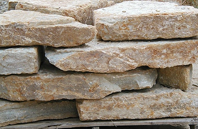 """Ohio SC rustic buff 4"""" wallstone  *Special order.  This stone must be ordered by the truckload and may be combined with any OH/ SC stone."""