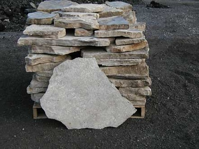 Ohio SC large canyon tan flagstone  *Special order.  This stone must be ordered by the truckload and may be combined with any OH/ SC stone.