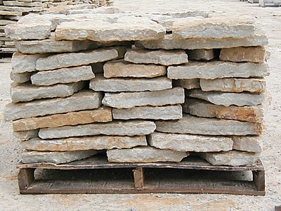 """Ohio SC rustic buff 2"""" wallstone  *Special order.  This stone must be ordered by the truckload and may be combined with any OH/ SC stone."""