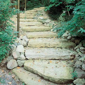 WI Hal Lannon outcropping steps  *Special order.  This stone must be ordered by the truckload.  Can be combined with any other WI/ Hal stone