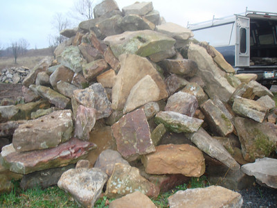 West Virginia Elk large fieldstone  *Easily accessible.  Can be added to a truck or picked up by TDH.
