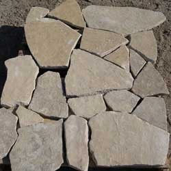 New Mexico Travertine oakwood sandstone flagstone  *Special order.  This stone must be ordered by the truckload and may be combined with any NM Trav SM stone.