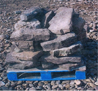 Tennessee SQM fieldstone steppers  *Special order, must be sold by the truckload.  Truckload can be combined with any NC/ SQM stone.