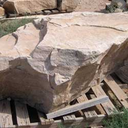 New Mexico travertine Oakwood sandstone boulder  *Special order.  This stone must be ordered by the truckload and may be combined with any NM Trav SM stone.