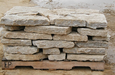 """Ohio SC rustic buff 3"""" wallstone  *Special order.  This stone must be ordered by the truckload and may be combined with any OH/ SC stone."""