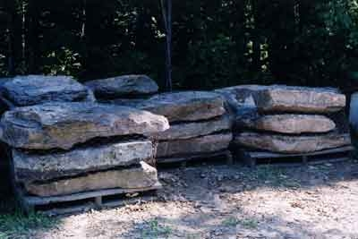 Pennsylvania LM fieldstone steppers  *Easily accessible.  This item is typically carried in stock.