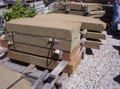 Pennsylvania SS dutch mountain steppers  *Special Order.  This stone must be ordered by the truckload.  Can be combined with any other PA/ SS stone.