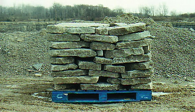 """Ohio SC gray gorge 3"""" wallstone  *Special Order.  This stone must be ordered by the truckload.  Can be combined with any stone from OH/ SC"""