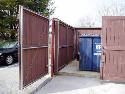 Commerical trash enclosure