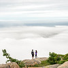 Fog sea over Bar Harbor (Maine)