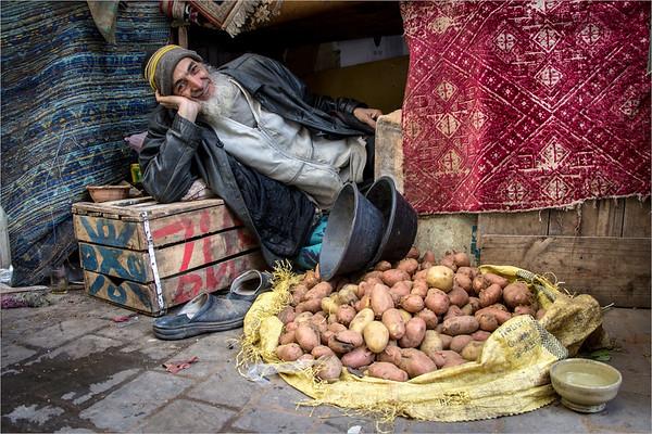 seller of potatoes in Fez