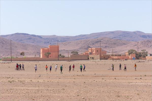 soccer pitch near Quarzazate