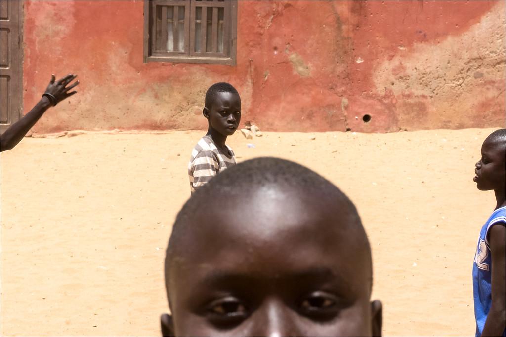 Gorée island - kids playing soccer