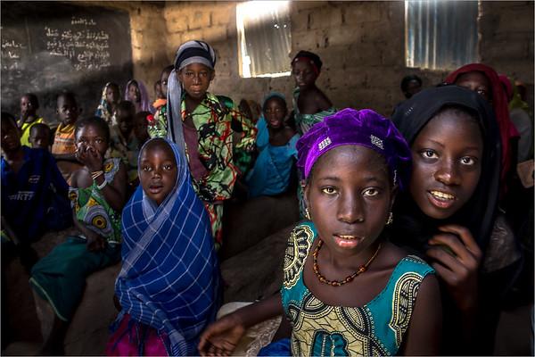 a class of an koranic school in the delta of the Sine-Saloum