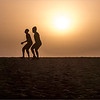 Somone - wrestlers are training on the beach