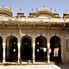 Laundry drying in a palace in Shekhawati in Rajasthan
