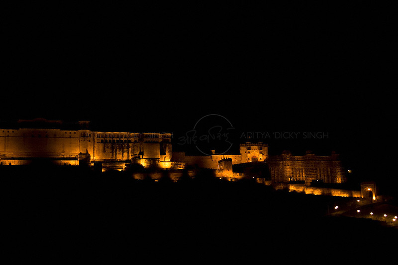 Amber fort in Jaipur (Rajasthan) at night