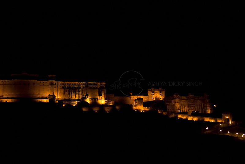Amber fort in Jaipur (Rajasthan) at night