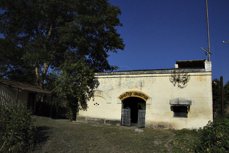 A small railway station in Sonaripur in Dudhwa tiger reserve