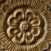 A floral pattern carved in a stone in Rajasthan