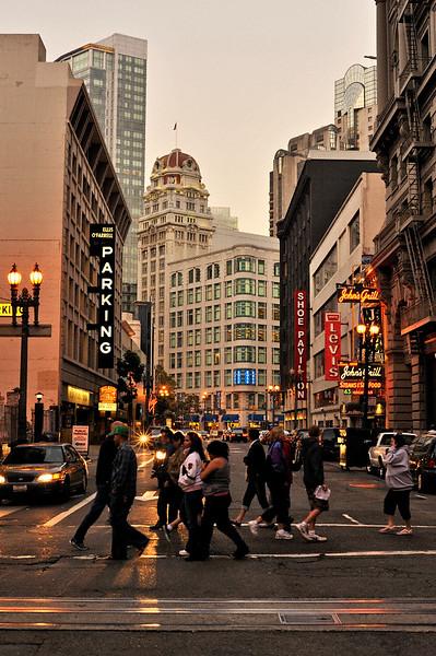 Pedestrians on a San Francisco street