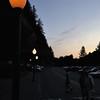 Nightfall on a street in Oregon, USA