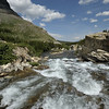 Cascades near the Swift current lake in Many Glaciers area of the Glacier national park, Montana