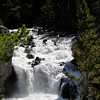 Cascade in Firehole river canyon in Yellowstone national park