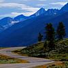 Winding road in the Teton range in the Grand Teton national park, Wyoming, USA