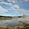Castle geyser the geyser basin in Yellowstone national park