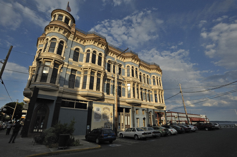 A building in Port Townsend in Washington state, USA